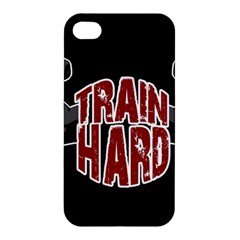 Train Hard Apple Iphone 4/4s Premium Hardshell Case by Valentinaart