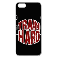 Train Hard Apple Seamless Iphone 5 Case (clear) by Valentinaart
