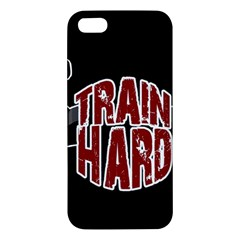 Train Hard Apple Iphone 5 Premium Hardshell Case by Valentinaart