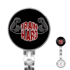 Train Hard Stainless Steel Nurses Watch by Valentinaart