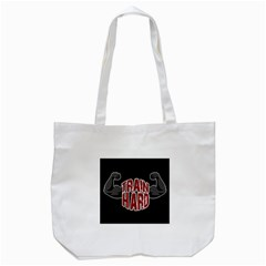 Train Hard Tote Bag (white) by Valentinaart