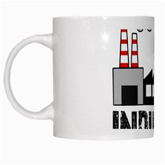 Industry Worker  White Mugs by Valentinaart