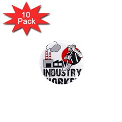 Industry Worker  1  Mini Magnet (10 Pack)  by Valentinaart