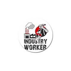 Industry Worker  Golf Ball Marker by Valentinaart