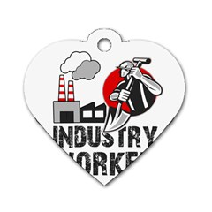 Industry Worker  Dog Tag Heart (one Side) by Valentinaart