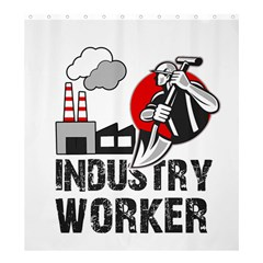 Industry Worker  Shower Curtain 66  X 72  (large)  by Valentinaart