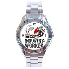 Industry Worker  Stainless Steel Analogue Watch by Valentinaart