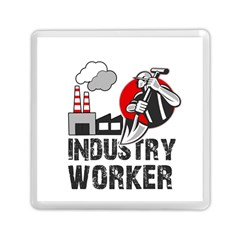 Industry Worker  Memory Card Reader (square)  by Valentinaart