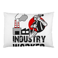 Industry Worker  Pillow Case (two Sides) by Valentinaart