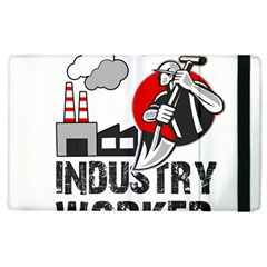Industry Worker  Apple Ipad 3/4 Flip Case by Valentinaart