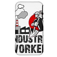 Industry Worker  Apple Iphone 4/4s Hardshell Case (pc+silicone) by Valentinaart