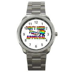 Dont Need Your Approval Sport Metal Watch by Valentinaart
