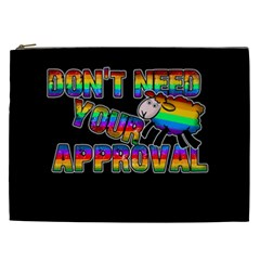 Dont Need Your Approval Cosmetic Bag (xxl)  by Valentinaart
