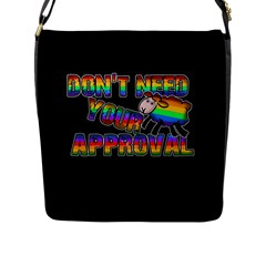 Dont Need Your Approval Flap Messenger Bag (l)  by Valentinaart