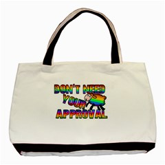 Dont Need Your Approval Basic Tote Bag by Valentinaart