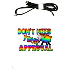 Dont Need Your Approval Shoulder Sling Bags by Valentinaart
