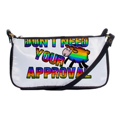 Dont Need Your Approval Shoulder Clutch Bags by Valentinaart