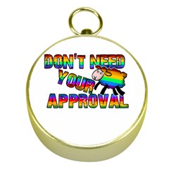 Dont Need Your Approval Gold Compasses by Valentinaart