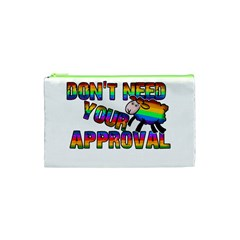 Dont Need Your Approval Cosmetic Bag (xs) by Valentinaart