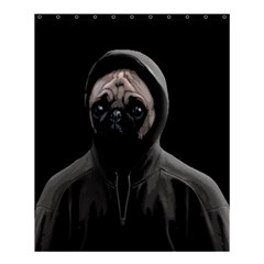 Gangsta Pug Shower Curtain 60  X 72  (medium)  by Valentinaart