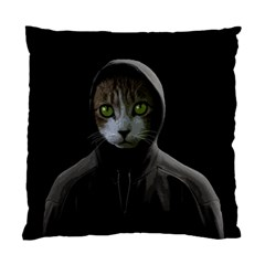 Gangsta Cat Standard Cushion Case (one Side) by Valentinaart