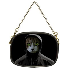 Gangsta Cat Chain Purses (two Sides)  by Valentinaart