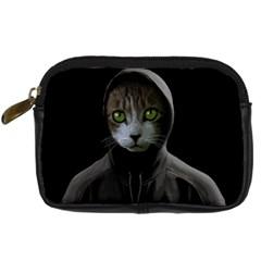 Gangsta Cat Digital Camera Cases by Valentinaart