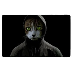 Gangsta Cat Apple Ipad 3/4 Flip Case by Valentinaart