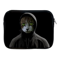 Gangsta Cat Apple Ipad 2/3/4 Zipper Cases by Valentinaart