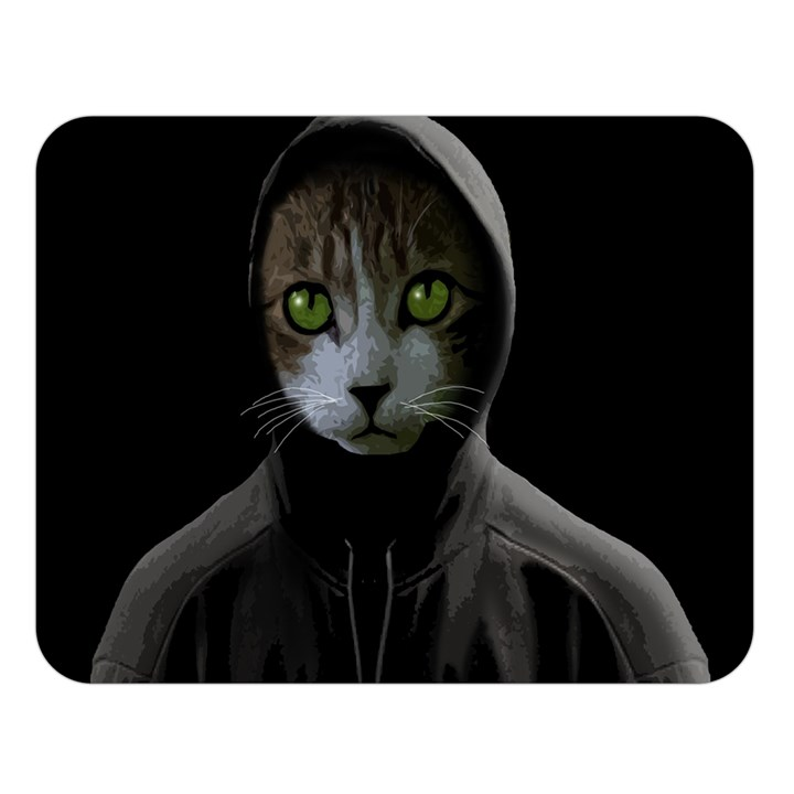 Gangsta cat Double Sided Flano Blanket (Large)