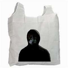 Gangsta Cat Recycle Bag (one Side) by Valentinaart