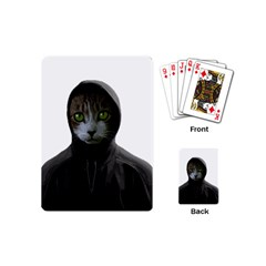 Gangsta Cat Playing Cards (mini)  by Valentinaart