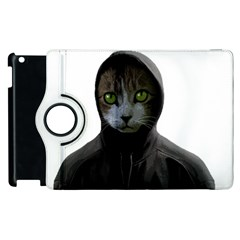 Gangsta Cat Apple Ipad 2 Flip 360 Case by Valentinaart