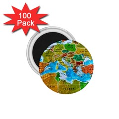 World Map 1 75  Magnets (100 Pack)  by BangZart