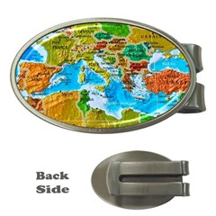 World Map Money Clips (oval)