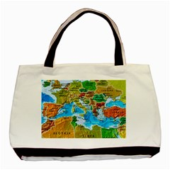 World Map Basic Tote Bag by BangZart
