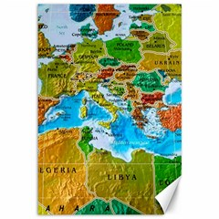 World Map Canvas 12  X 18