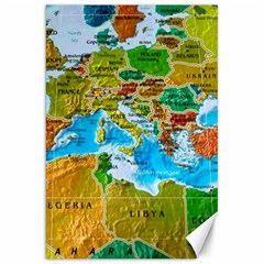 World Map Canvas 20  X 30