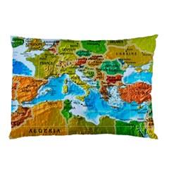World Map Pillow Case by BangZart
