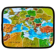 World Map Netbook Case (xxl)