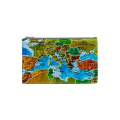 World Map Cosmetic Bag (small)  by BangZart