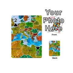World Map Playing Cards 54 (mini)  by BangZart