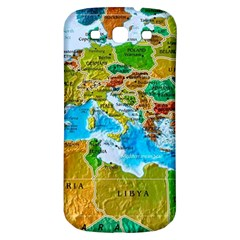 World Map Samsung Galaxy S3 S Iii Classic Hardshell Back Case