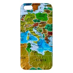 World Map Apple Iphone 5 Premium Hardshell Case