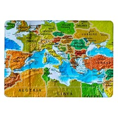 World Map Samsung Galaxy Tab 10 1  P7500 Flip Case by BangZart