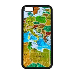 World Map Apple Iphone 5c Seamless Case (black) by BangZart