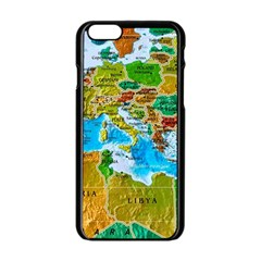 World Map Apple Iphone 6/6s Black Enamel Case by BangZart