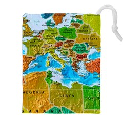 World Map Drawstring Pouches (xxl)