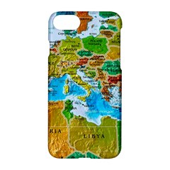 World Map Apple Iphone 7 Hardshell Case by BangZart