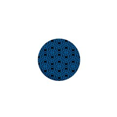 Triangle Knot Blue And Black Fabric 1  Mini Magnets